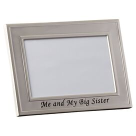 Barfoot Me and My Big Sister Picture Frame
