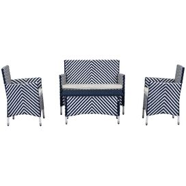 4-Piece Figueroa Patio Seating Group in Navy