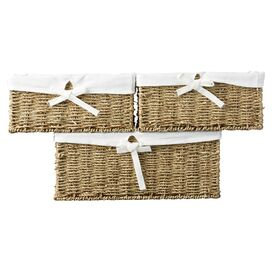 Bertram Sea Grass 3 Piece Storage Basket Set