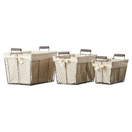 3-Piece Wire Storage Basket Set