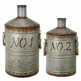 2-Piece Metal Decorative Container