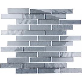 Glass Mosaic Tile in Blue Gray