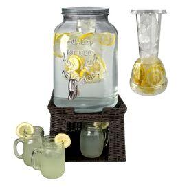 9-Piece Oasis 3-Gallon Beverage Dispenser Set
