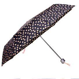 Black & Pink Heart Umbrella