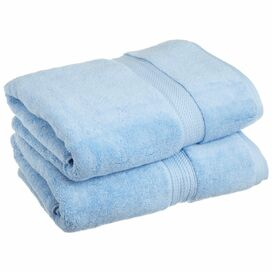 Nimbus Egyptian Cotton Bath Towel in Light Blue (Set of 2)