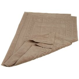 Brynne Egyptian Cotton Bath Mat in Taupe (Set of 2)