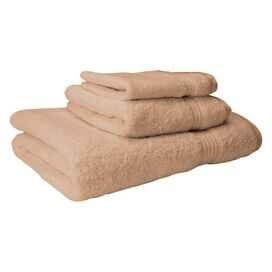 3-Piece Vivienne Egyptian Cotton Towel Set in Taupe