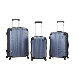 3-Piece Callista Rolling Luggage Set in Blue