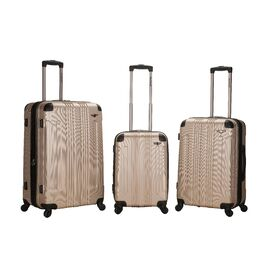 3-Piece Callista Rolling Luggage Set in Champagne
