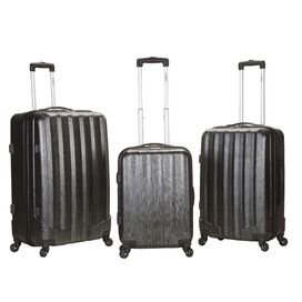 3-Piece Vegas Rolling Luggage Set in Carbon