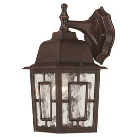 Ashford Outdoor Wall Lantern in Rustic Bronze