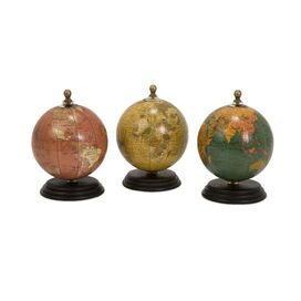 Globe Statuette (Set of 3)