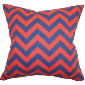 Zooey Pillow in Lipstick Blue