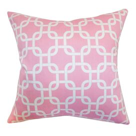 Links Pillow in Baby Pink