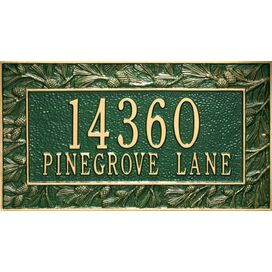 Personalized Pinecone Address Plaque