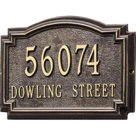 Personalized Williamsburg Address Plaque