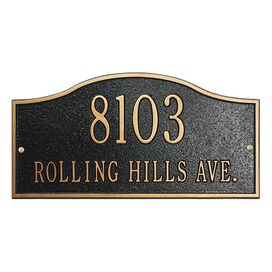 Personalized Rolling Hills Address Plaque
