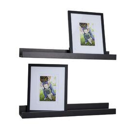 4-Piece Floating Shelf & Picture Frame Set