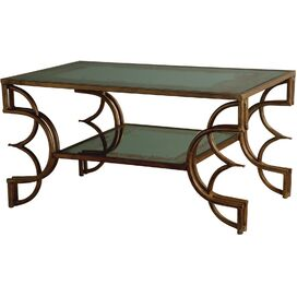 Hudson Mirrored Coffee Table, Arteriors