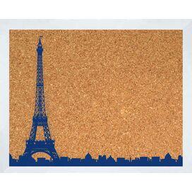 Paris Skyline Framed Corkboard