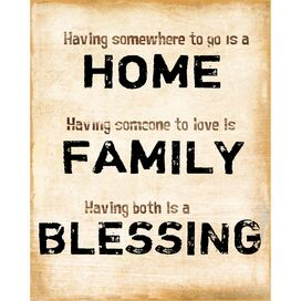 Home Family Blessing Art Print