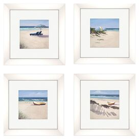 Beach Umbrella Framed Print (Set of 4)
