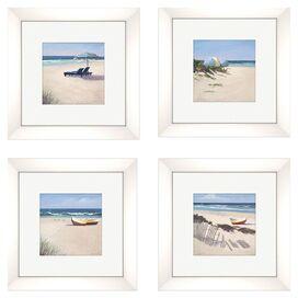 Beach Umbrella Framed Print (Set of 4)