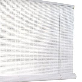 Bamboo Roman Shade in White