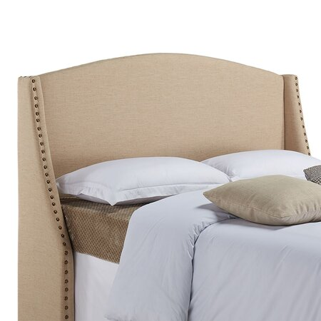 Mayberry Upholstered Headboard in Khaki Linen