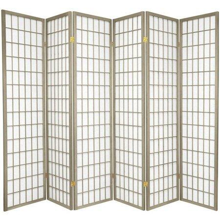 "70"" x 84"" Window Pane 6 Panel Room Divider"