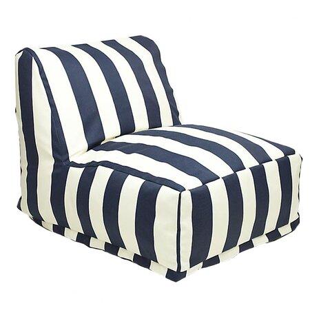 Bianca Indoor/Outdoor Beanbag Chair in Navy Blue & White