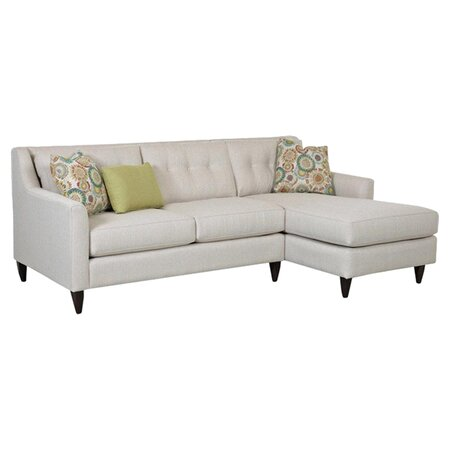 Lydia tufted sectional sofa the sleek studio on joss main for Sectional sofa joss and main