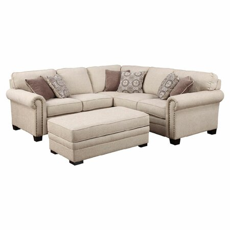 Lacie 90quot sectional sofa family time furniture on joss for Sectional sofa joss and main