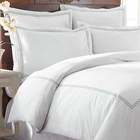 Karla Duvet Cover Set in Soft Jade