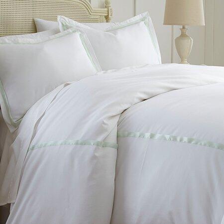 Reina Duvet Cover Set in Soft Jade
