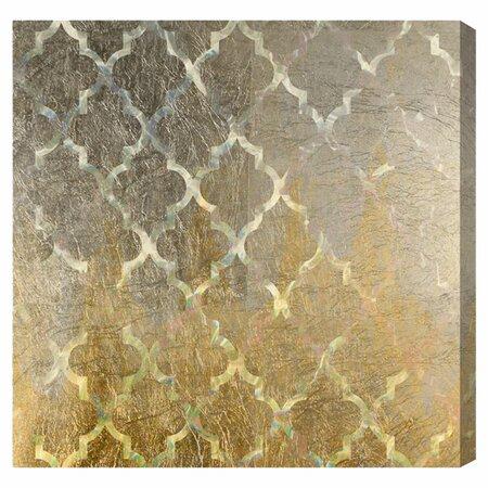 Quatrefoil Platinum Canvas Print, Oliver Gal