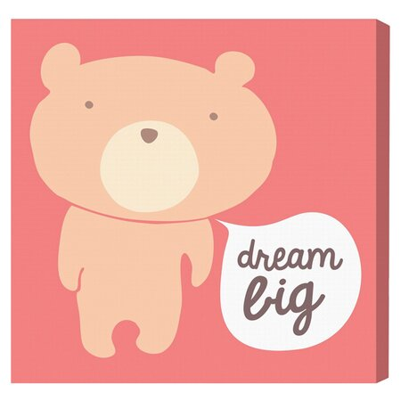 Dream Big Teddy Canvas Print, Oliver Gal