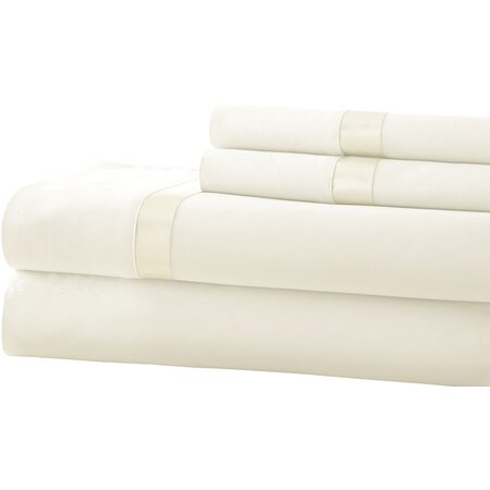 400 Thread Count Egyptian Cotton Sheet Set in White & Pristine