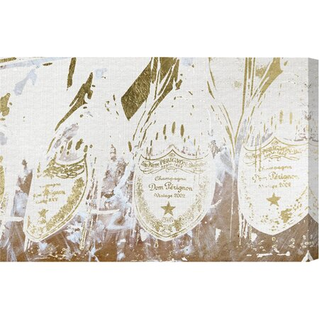 Champagne Showers Canvas Print, Oliver Gal