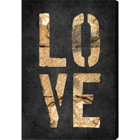 Four Letters Rock Canvas Print, Oliver Gal