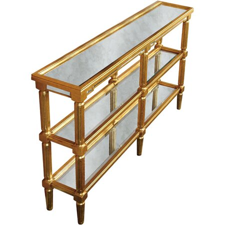 Antique Gold Console Table Console Table in Gold Amp