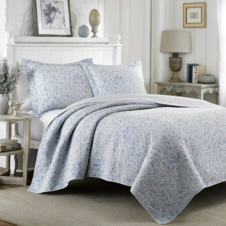 Laura Ashley Bedford Blue Quilt Laura Ashley Mia Pebble Quilt