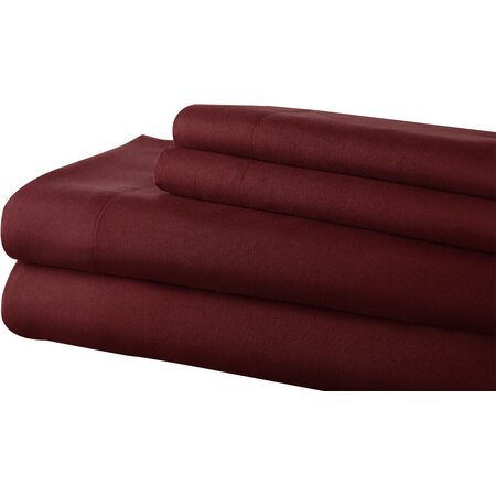 Microfiber Sheet Set in Ruby