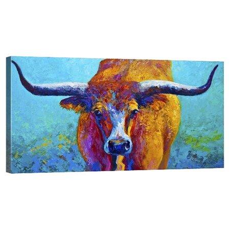 Texas Longhorn Canvas Print Wall Decor Deals On Joss Main