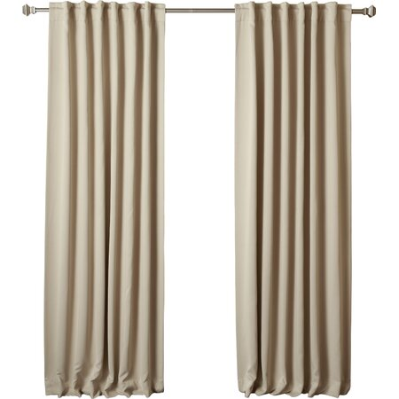 Thermal Insulated Blackout Curtain Panel in Beige (Set of 2)