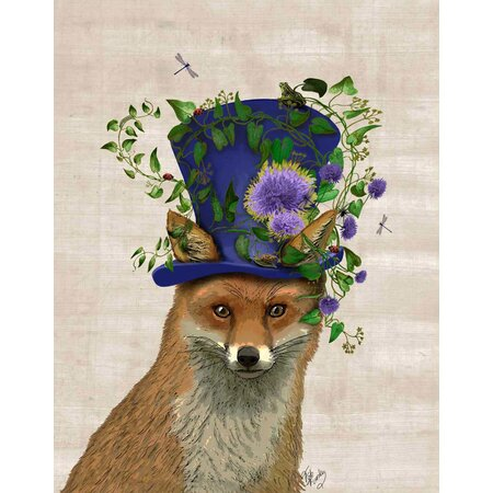 Mad Hatter Fox Canvas Print Wall Decor Deals On Joss Amp Main