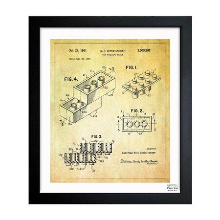 Lego Toy Building Block, 1961 Framed Print, Oliver Gal