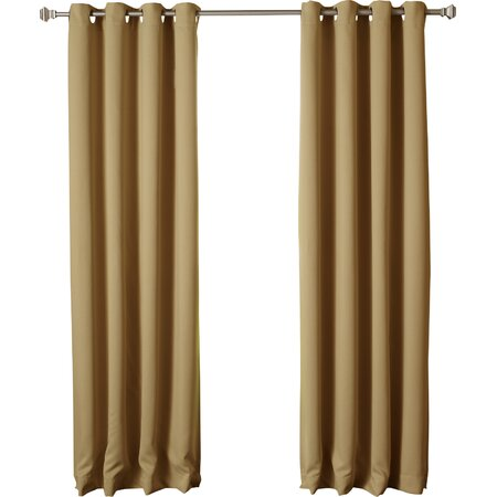 Blackout Grommet Curtain Panel in Wheat (Set of 2)