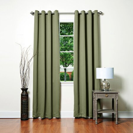Blackout Grommet Curtain Panel in Olive (Set of 2)