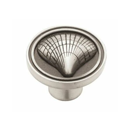 Clamshell Cabinet Knob in Brushed Satin Pewter